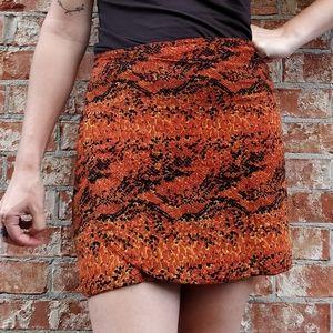 Orange animal print pareo